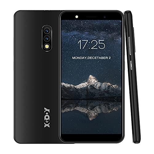 Xgody Mate10+ Smartphone Unlocked, Android 8.1 Cell Phones Cheap, Dual Sim-Free Mobile Phones with 5.5 inch HD Display, Dual 5MP Beauty Cameras + 8GB ROM (Black)