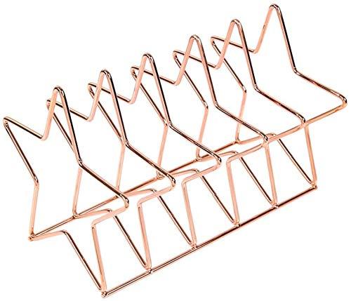 XLL 1pc Star Design Desktop Boekenplank Iron Art Book Rack Creatieve Boekenstandaard Eenvoudige Boekenbank voor Krant Tijdschrift Boek Willekeurige Kleur