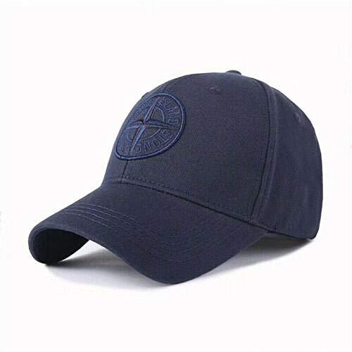 Baseballmützen Hip Hop Hüte Angeln Golf Sonnenschutz Laufen im Freien Trucker Sports New Stone Island Logo Baseball-Mütze Kappe mit Verstellbarer Kappe Unisex-Golfmütze UK @ Navy