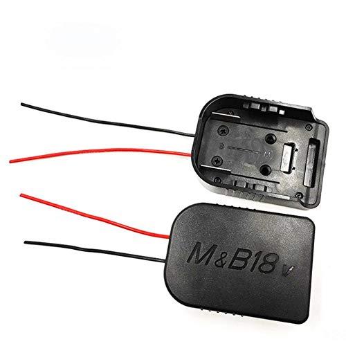 Jorzer Adaptador eléctrico Llantas de 18V / 18V Bosch Li-Ion Monte energía de la batería Adaptador de Conector del Muelle del Negro