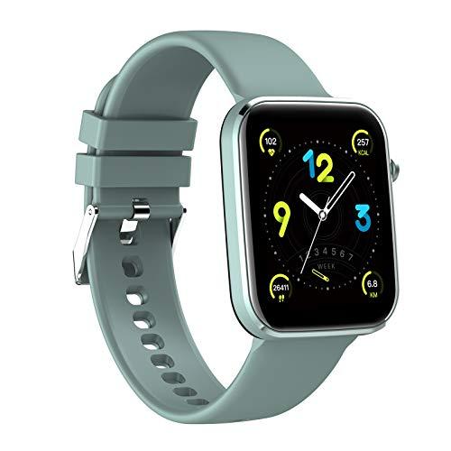 HQPCAHL Smartwatch, Reloj Inteligente Impermeable IP67 para Hombre Mujer Niños, Pulsera De Actividad Inteligente con Monitor De Sueño Contador De Caloría Pulsómetros Podómetro para Android iOS,Azul