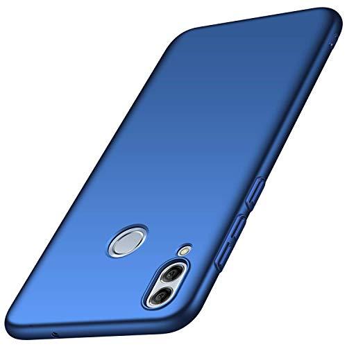 Huawei P Smart(2019)ケース用DAYNEW、スリムフィットマット仕上げハードPCウルトラスリムおよび軽量耐衝撃スリップ防止Huawei P Smart(2019)ブルー