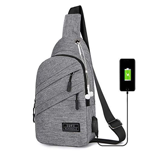 Brusttasche für Herren/Skxinn Umhängetasche Schultertasche Cross Bag Schleuder Tasche Sling Rucksack Multipurpose Daypack,Outdoor Sport Running Casual Umhängetasche(Y)