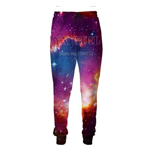 Pantalones de chándal Fashion Flame Unisesx Baggy Jogger 3D Print Cartoon Sweatpants Black XL