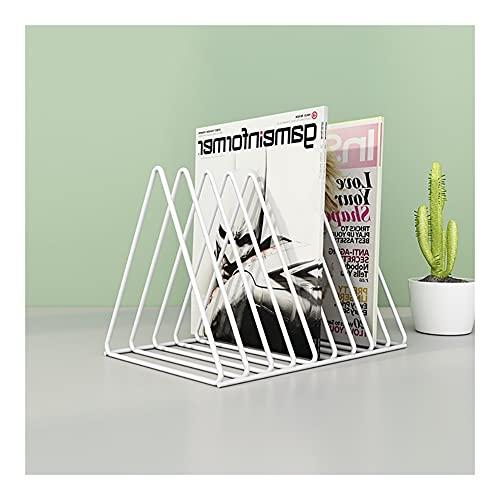 Estante Titular de la Revista Triangle Bookshelf Small Storage Stay Pantalla de visualización Magazine Soporte de la Revista para Office Home Robusto (Color : White, tamaño : Large)