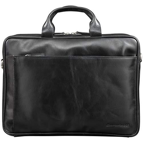 dbramante1928 Amalienborg laptoptas | Handgemaakt volnerfleer, 15 Inch, Zwart