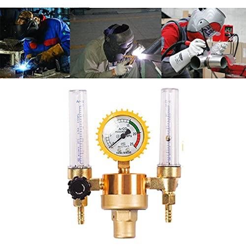Caudalímetro de gas Control de presión de argón Diseño de tubo doble perfectamente para soldadura principiante experimentado equipo de soldadura profesional y accesorios