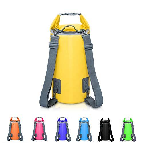 KEMANDUO Rucksack, Schwimmende Wasserfeste Trockentasche 5L / 10L / 15L / 20L, Schwimmende Trockene Ausrüstungstasche,Yellow,30L