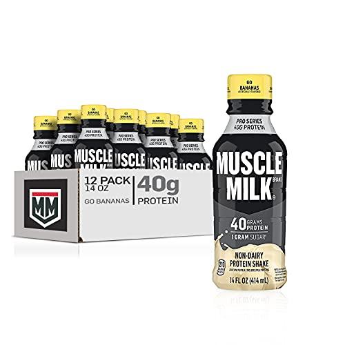 Muscle Milk Pro Series Protein Shake, Go Bananas, 40g Protein, 14 Fl Oz, 12 Pack