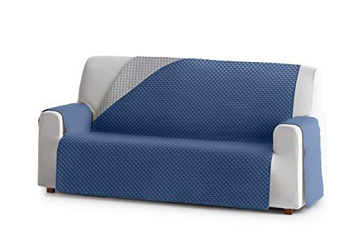 Eysa Oslo bankovertrek, polyester, C/3 blauw-grijs, 3-zits 160 cm. Geschikt voor banken van 170 tot 210 cm.