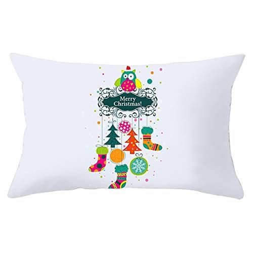 Fundas de Cojines Throw Pillow Case Calcetín de Navidad de dibujos animados Cojines Decoracion Terciopelo Fundas de Almohada Rectángulo para Sofá Sillas Coche Decor Hogar Y5533 Pillowcase,50x70cm