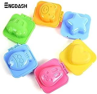 ENGDASH 6pcs Mini Sandwich Cutter Molds Egg Sushi Rice Mold Bento Maker DIY Decorating Mould Kitchen Gadgets for DIY Foods