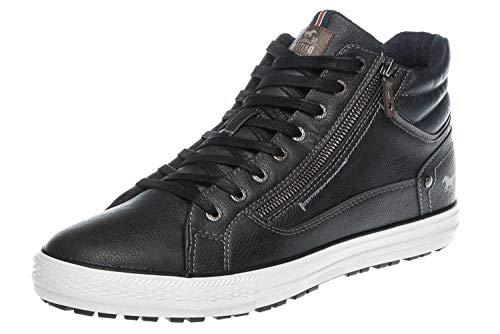 MUSTANG Shoes High Top Sneaker in Übergrößen Graphit 4129-502-259 große Herrenschuhe, Größe:49