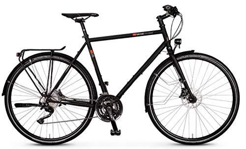 """vsf fahrradmanufaktur T-700 Shimano Deore XT 30-G Disc Trekking Bike 2021 (28\"""" Herren Diamant 57cm, Ebony Matt (Herren))"""