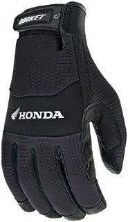 Joe Rocket Honda Crew Touch Men's Textile Sports Bike Motorcycle Gloves - Black/Black / 3X-Large