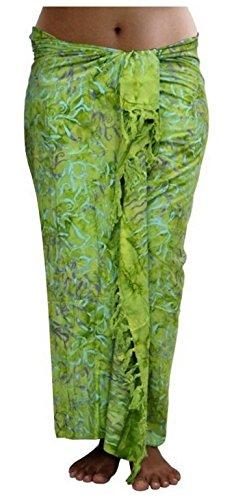 ca.100 Modelle im Shop Sarong Strandtuch Pareo Wickelrock Loop Stola grün Sar38