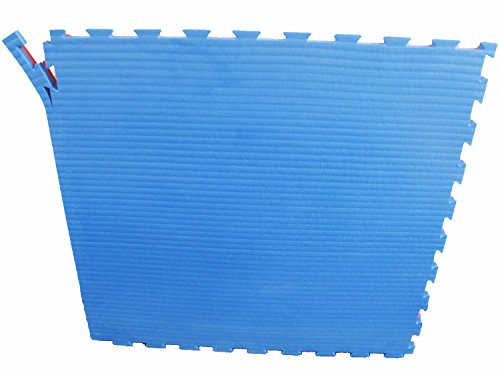 Unbekannt Judo Sportmatte/Steckmatte/Tatami blau-rot 1mx1mx4cm, Härtegrad 50-55 (4500010)