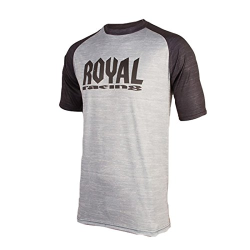 Royal Racing Maillot Heritage Manches Courtes-Gris/Noir-XS Homme, FR Taille Fabricant