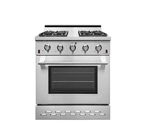 """NXR SC3055 30"""" 4.5 cu.ft. Pro-Style Natural Gas Range with Convection Oven, Stainless Steel"""