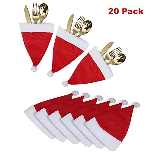 BELLE VOUS Porta Cubiertos Navidad 20 Piezas - Mini