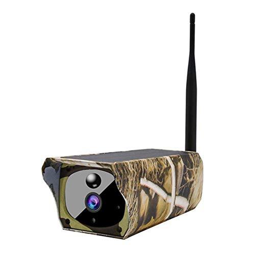 JVSISM Solarbetriebene 1080P Trail Game Kamera, IP65 wasserdichte WiFi Jagdkamera 850Nm Infrarot Nachtsicht Bewegungsaktivierter Sensor Wildkamera