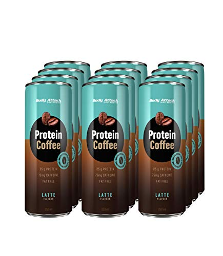 Body Attack, Protein Coffee, 1er Pack (12x 250ml)