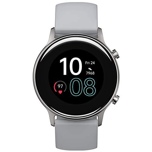 Smartwatch, UMIDIGI Urun GPS Smart Watch Fitness Tracker mit Pace, wasserdichte Fitnessuhr mit Blutsauerstoff-Monitor, Pulsuhr, Schlafmonitor, Schrittzähler, Stoppuhr für Damen und Herren, Titangrau
