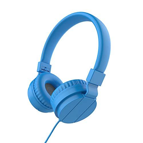 Puyong Auriculares para niños, Auriculares con Cable con micrófono, Diadema Ajustable, Auriculares para niños de bajo estéreo para estudiar, Viajes