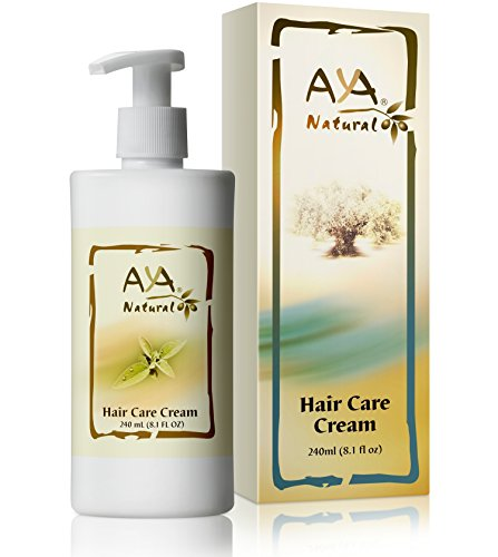 All Natural Leave In Conditioner Cream - Vegan Anti Frizz Moisturizer Hair Care Repair Detangler with Olive Oil for Dry Damaged Curly Wavy or Straight Hair