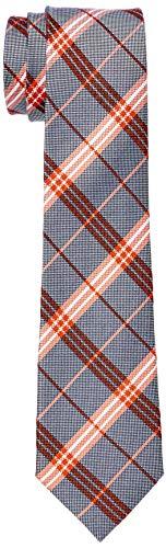 Seidensticker Herren Modern 7 cm breit Krawatte, Mehrfarbig (Orange 67), One Size (Herstellergröße:)