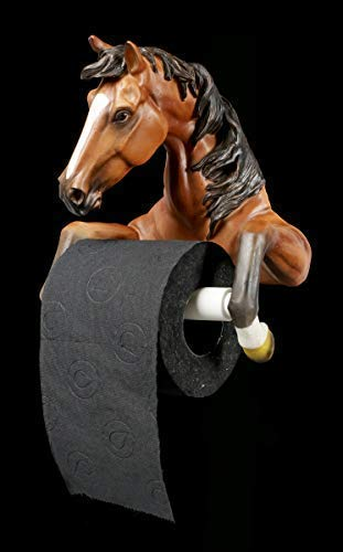Figuren Shop GmbH Toilettenpapierhalter - Pferd | Dekoartikel fürs Bad, handbemalt