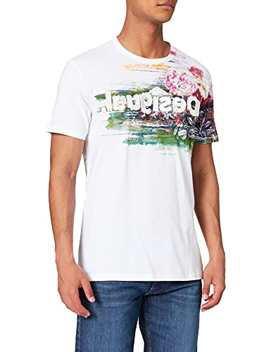 Desigual TS_Cameron Camiseta, Blanco, XL para Hombre