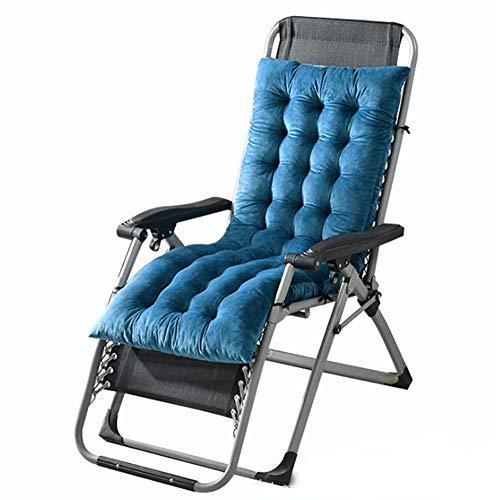 ZHHL - Cojines cómodos para silla mecedora, portátil, duradero, muebles de jardín, patio, acolchado, suave y transpirable, azul real, 130*50*10
