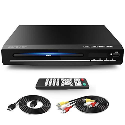 DVD-Player für TV, DVD-Player mit HDMI & AV-Kabel, Full HD 1080P alle Regionen frei DVD CD MP3 Player mit Fernbedienung, USB-Anschluss (nicht Blueray)