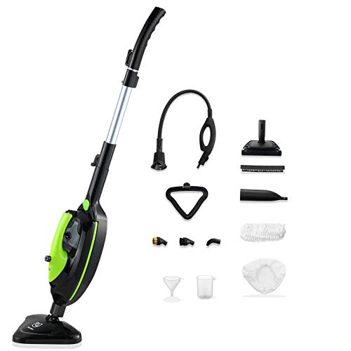 Moolan Steam Mop, Multifunctional Steam Cleaner 12-in-1 Powerful 1500W Steamer Floor for Hard Floor,...
