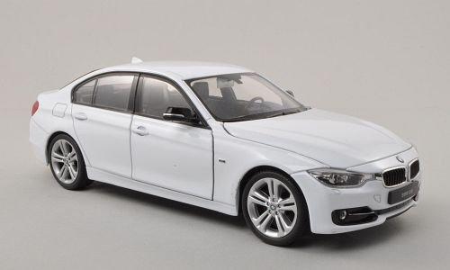 BMW 335i (F30), Weiss , Modellauto, Fertigmodell, Welly 1:24