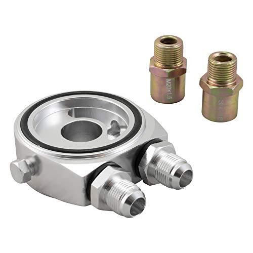 Ölfilter Sandwich Adapter Platte AN8 M20x1,5 + 3/4-16 f. ext. Ölkühler & Sensor