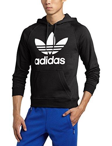 adidas Kapuzentop Raglan Trefoil Hoodie - Chaqueta de Running para Hombre, Color Negro, Talla L
