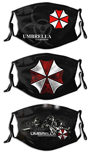 Men's Women's winter Balaclava Windproof Face Mask Dustproof Mouth Cover 3 PCS 6 Filters Adjustable Made in USA Resident Evil umbrella corporation