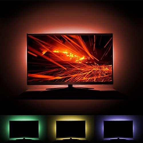 TV Bias Lighting, USB LED TV Backlight 6.6ft 5050 RGB Color TV LED Light Strip with 24 Key RF Remote and Dimmer for HDTV, Monitor, Desktop, PC
