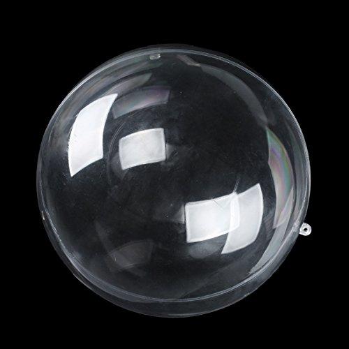 Vlovelife 80mm Clear Plastic Acrylic Fillable Ball Ornament Crystal Decor Round Ball Favor