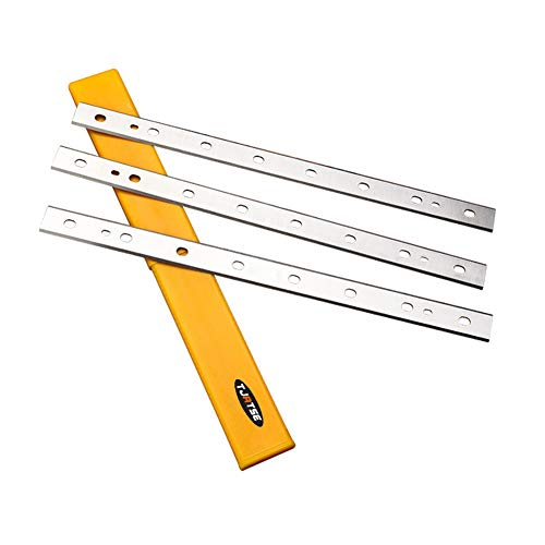 TJATSE Upgraded 13-Inch HSS Replacement Planer Knives for DeWalt DW735 DW7352 735X, Double Sided Cutting Edge Thickness Planers Blades- 3Pack