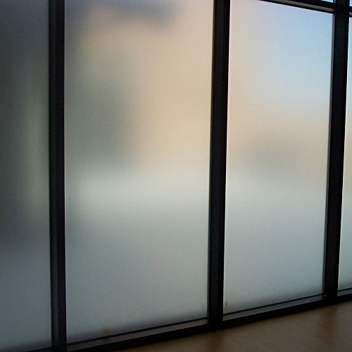 Amposei Frosted Window Privacy Film Non-Adhesive Glass Film Etched Removable Door Window Covering Static Cling for Bathroom Kitchen 35.4 by 78.7 inches