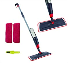 VENETIO Premium Spray Mop Floors Cleaning with 2 Reusable Microfiber Pad 360 Degree Rotation Joint for Home Kitchen Hardwood Laminate Wood Ceramic Tiles Floor Cleaning (700ml)
