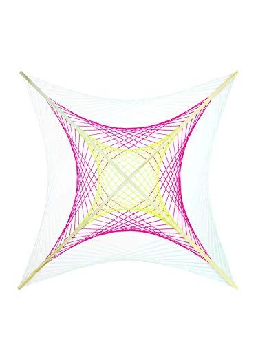 PSYWORK Schwarzlicht 2D StringArt Fadendeko Neon Space, 90cm