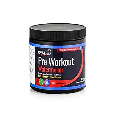 Pre Workout (Watermelon) 50 Servings Vegan/Vegetarian Friendly by GYM GUY