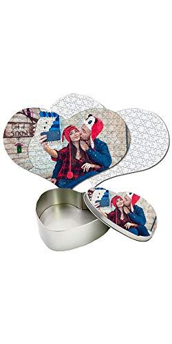Puzzle Personalizzato con Foto Inclusa Scatola Regalo Personalizzata Puzzle Cuore 30x40 cm. 232 Tasselli