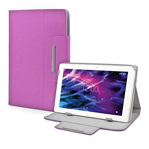 eFabrik Schutz Hülle für Medion Lifetab P10356 MD 99632 Tasche Cover Hülle Schutztasche Etui Folio Leder-Optik lila