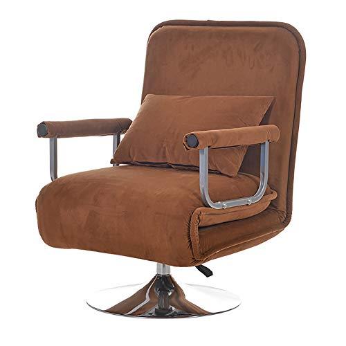 XIAMIMI 360 Grad-Schwenker Video Rocker Gaming Chair einstellbare Winkel Stuhl Klappboden Stuhl-Wohnzimmer-Möbel Ergonomisches Design,Braun
