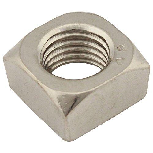 Vierkantmuttern (Standard Ausführung) - M8 - ( 40 Stück ) - DIN 557 - Edelstahl A2 (V2A) - Einlegemutter - SC557   SC-Normteile®